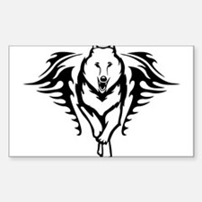 Wolf head Rectangle Decal