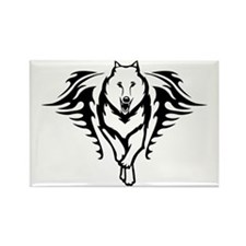 Wolf head Rectangle Magnet