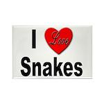 I Love Snakes Rectangle Magnet (10 pack)
