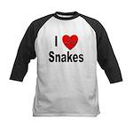 I Love Snakes Kids Baseball Jersey