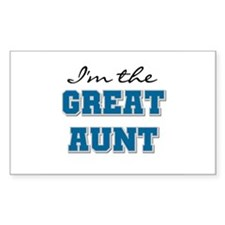 Blue Great Aunt Rectangle Decal