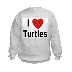 I Love Turtles Sweatshirt