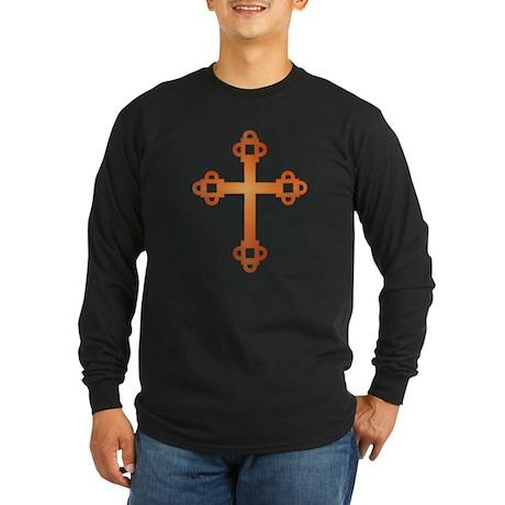 Labyrinth Cross Long Sleeve Dark T-Shirt