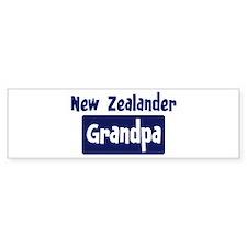 New Zealander grandpa Bumper Car Car Sticker