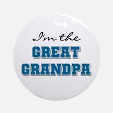 Blue Great Grandpa Ornament (Round)