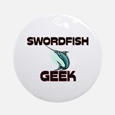 Swordfish Geek Ornament (Round)