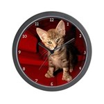 Hemingway Kitten Wall Clock