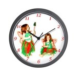 Christmas Fairies Wall Clock