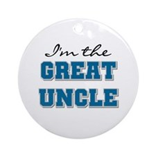 Blue Great Uncle Ornament (Round)