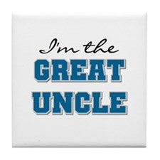 Blue Great Uncle Tile Coaster