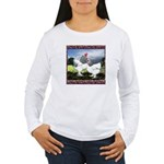 Framed Brahma Chickens Women's Long Sleeve T-Shirt