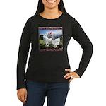 Framed Brahma Chickens Women's Long Sleeve Dark T-