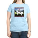 Framed Brahma Chickens Women's Light T-Shirt