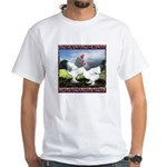Framed Brahma Chickens White T-Shirt