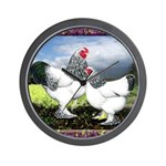 Framed Brahma Chickens Wall Clock