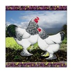 Framed Brahma Chickens Tile Coaster