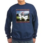 Framed Brahma Chickens Sweatshirt (dark)