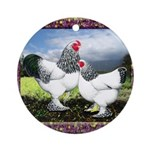 Framed Brahma Chickens Ornament (Round)