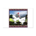 Framed Brahma Chickens Mini Poster Print