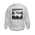 Framed Brahma Chickens Kids Sweatshirt