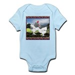 Framed Brahma Chickens Infant Bodysuit