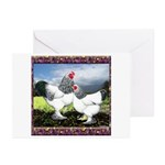 Framed Brahma Chickens Greeting Cards (Pk of 20)