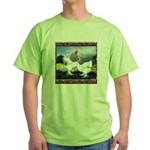 Framed Brahma Chickens Green T-Shirt