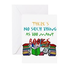 Too Many Books... Greeting Cards (Pk of 10)