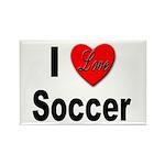 I Love Soccer Rectangle Magnet (10 pack)