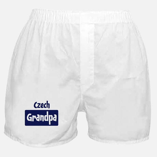 Czech grandpa Boxer Shorts