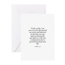 JOHN  5:24 Greeting Cards (Pk of 10)