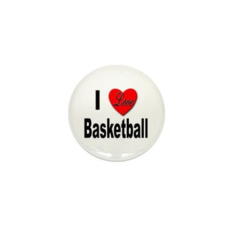 I Love Basketball Mini Button