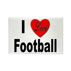 I Love Football Rectangle Magnet