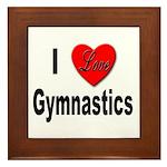 I Love Gymnastics Framed Tile
