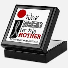 I Wear Grey For My Mother 9 Keepsake Box