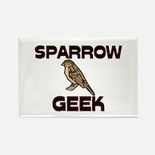 Sparrow Geek Rectangle Magnet