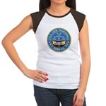 USS JOHN MARSHALL Junior's Cap Sleeve T-Shirt