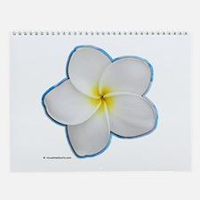 Plumeria Wall Calendar
