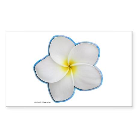 Plumeria Rectangle Sticker
