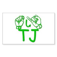 TJ Rectangle Decal