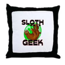 Sloth Geek Throw Pillow