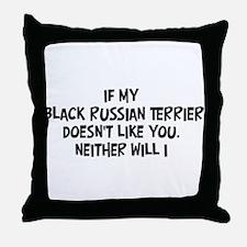Black Russian Terrier like yo Throw Pillow