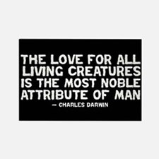 Quote Darwin - The Love Rectangle Magnet