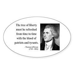 Thomas Jefferson 18 Oval Decal