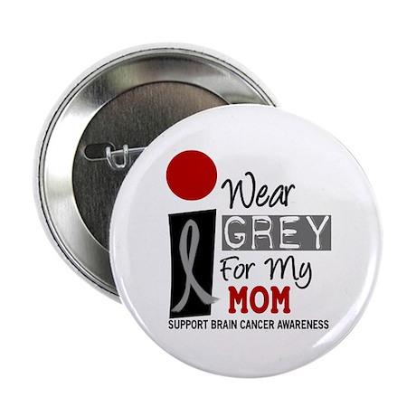 "I Wear Grey For My Mom 9 2.25"" Button"