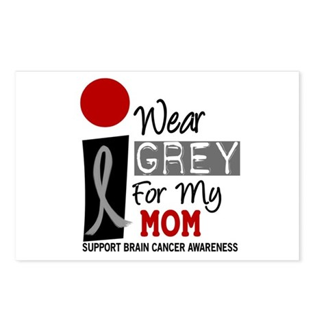 I Wear Grey For My Mom 9 Postcards (Package of 8)