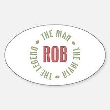 Rob Man Myth Legend Oval Decal