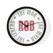 Rob Man Myth Legend Wall Clock