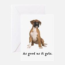 Good Boxer Puppy Greeting Card