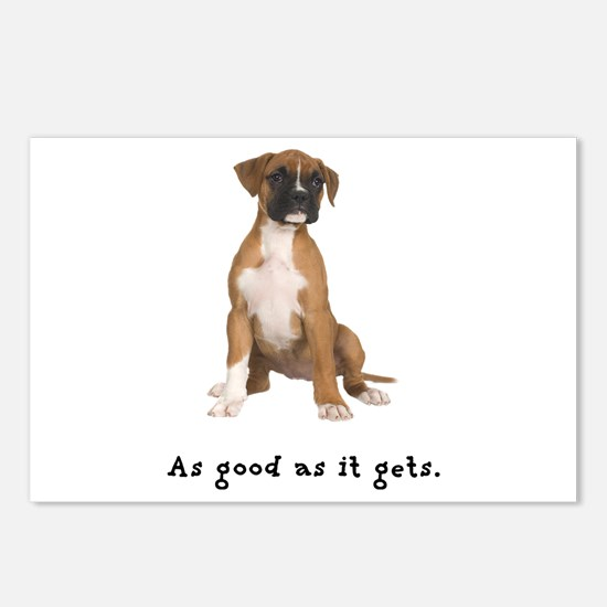 Good Boxer Puppy Postcards (Package of 8)